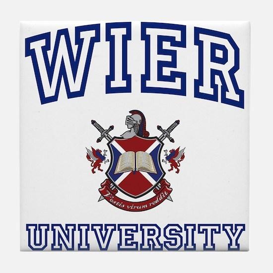 WIER University Tile Coaster