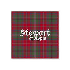 """Tartan - Stewart of Appin Square Sticker 3"""" x 3"""""""
