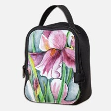 Purple Iris Neoprene Lunch Bag