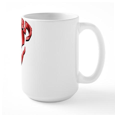 Alien with Logo Red Large Mug