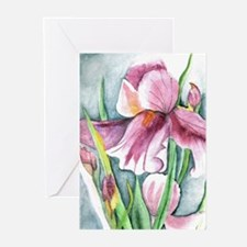 Purple Iris Greeting Cards