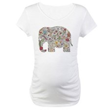 Floral Elephant Silhouette Shirt