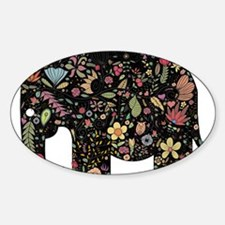 Floral Elephant Silhouette Decal