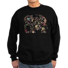 Floral Elephant Silhouette Sweatshirt