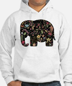 Floral Elephant Silhouette Hoodie