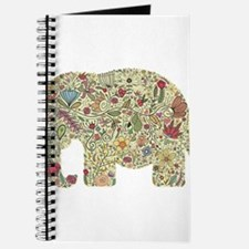 Floral Elephant Silhouette Journal