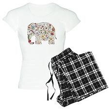 Floral Elephant Silhouette Pajamas