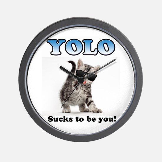 Yolo Cat Wall Clock