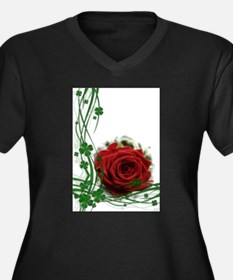 Rose With Four Leaf Clovers Plus Size T-Shirt