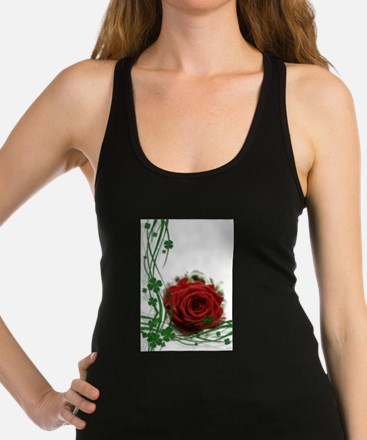 Rose With Four Leaf Clovers Racerback Tank Top