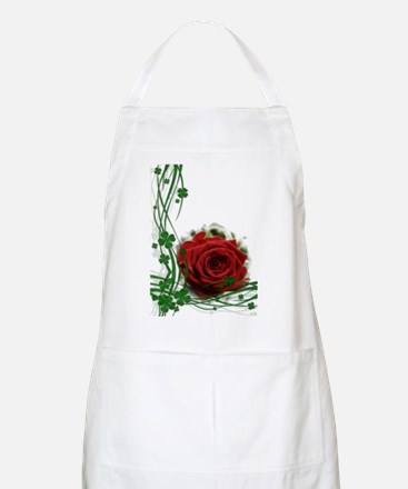 Rose With Four Leaf Clovers Apron