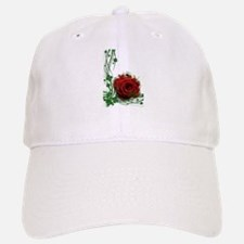 Rose With Four Leaf Clovers Baseball Baseball Cap