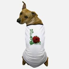 Rose With Four Leaf Clovers Dog T-Shirt