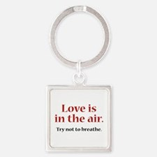 Love Is In The Air Square Keychain