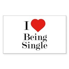 I Love Being Single Decal