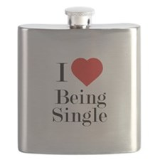 I Love Being Single Flask