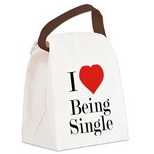 I Love Being Single Canvas Lunch Bag