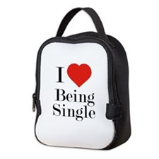 I Love Being Single Neoprene Lunch Bag