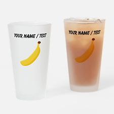 Custom Yellow Banana Drinking Glass