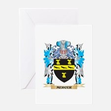 Mercer Coat of Arms - Family Crest Greeting Cards