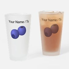 Custom Blueberries Drinking Glass