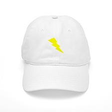 Yellow Lightning Baseball Baseball Cap