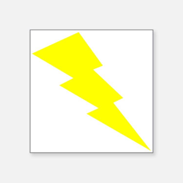 Yellow Lightning Sticker