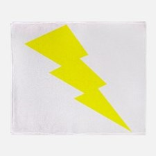Yellow Lightning Throw Blanket