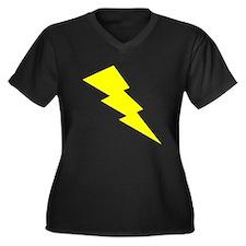Yellow Lightning Plus Size T-Shirt