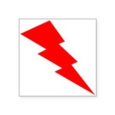 Red Lightning Sticker