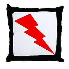 Red Lightning Throw Pillow
