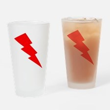 Red Lightning Drinking Glass