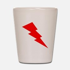 Red Lightning Shot Glass