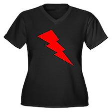 Red Lightning Plus Size T-Shirt