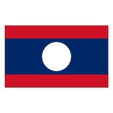 Laos Flag Rectangle Decal