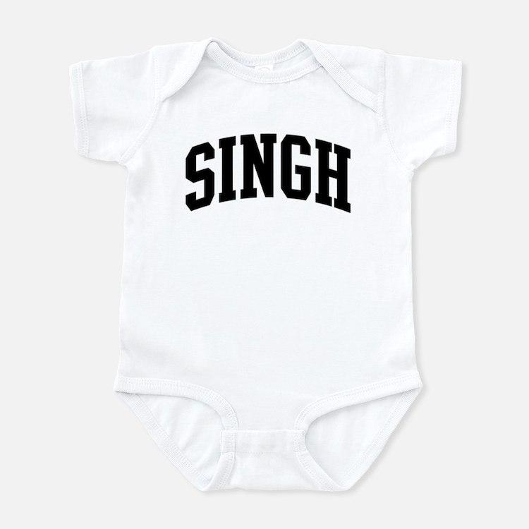 SINGH (curve-black) Infant Bodysuit
