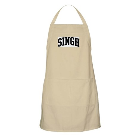 SINGH (curve-black) BBQ Apron