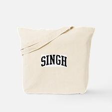 SINGH (curve-black) Tote Bag