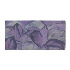 Light Purple Leaves Beach Towel
