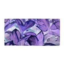 Purple Leaves Beach Towel