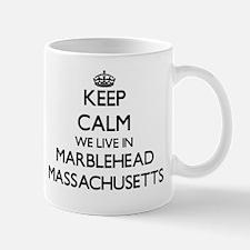 Keep calm we live in Marblehead Massach Mug