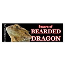 Beware of Bearded Dragon Bumper Bumper Sticker