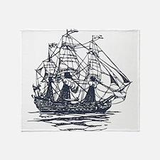 Nautical Ship Throw Blanket