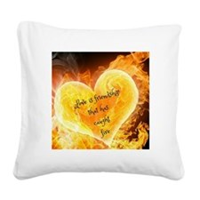 Love Is Friendship Square Canvas Pillow