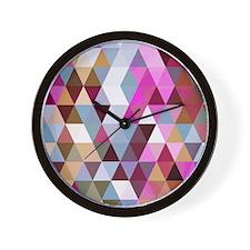 Triangle Mix #3 Wall Clock