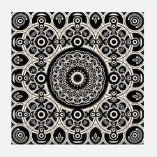 Lacy Mandala Tile Coaster