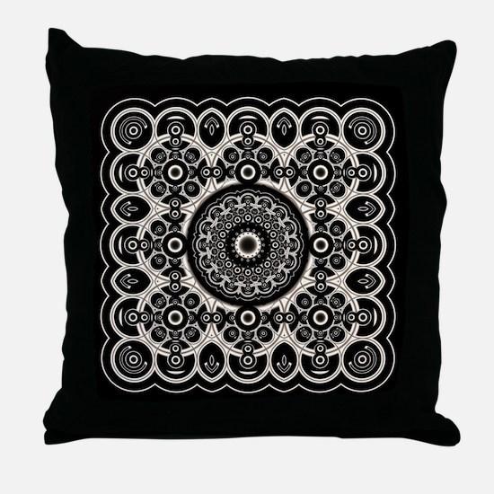 Lacy Mandala Throw Pillow