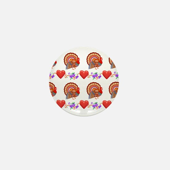 Festive Thanksgiving Mini Button (10 pack)