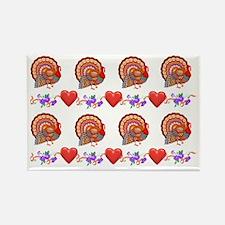 Festive Thanksgiving Rectangle Magnet
