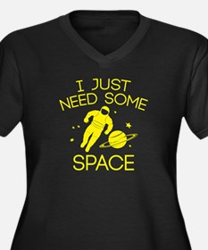 I Just Need Some Space Women's Plus Size V-Neck Da